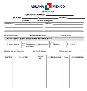boleta aduanal 1