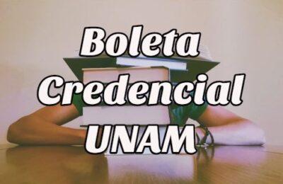 boleta credencial UNAM