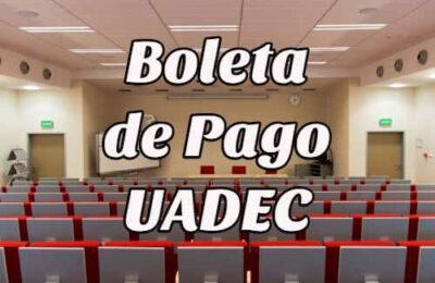 boleta de pago UADEC