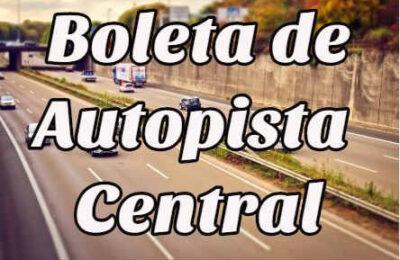 Boleta de autopista central