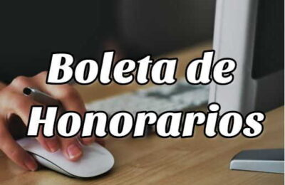 Boleta de honoraios