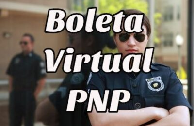 boleta virtual PNP