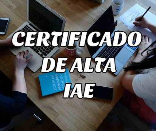 sacar certificado alta IAE